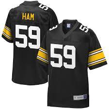 Men's Jersey Pro Ham Retired Nfl Black Pittsburgh Jack Player Steelers Line