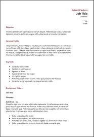Best Type Of Resume Example Of Three Main Resume Formats