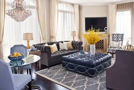 Living Room With Chesterfield Sofa Furniture Glossy Black Chesterfield Leather Sofa With 2 Seat For
