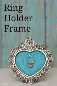 diy ring holder frame tutorial from organize and decorate everything