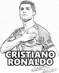 Cristiano Ronaldo Real Madrid Player Cr7 Ronaldo Coloringpages