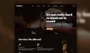 Barber Shop Website Razor Barbershop Website Template With Bootstrap 4 Grafreez