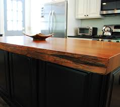 live edge redwood countertop