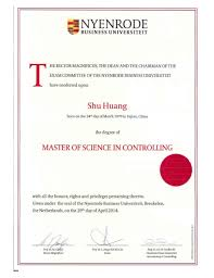 of science in controlling diploma  master of science in controlling diploma