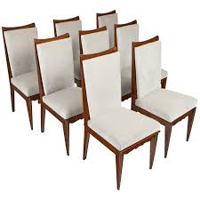 vintage art deco furniture. 15E114-Set-Eight-Dining-Chairs-mid-century-modern- Vintage Art Deco Furniture T