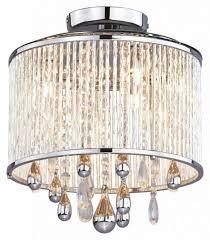 three light chrome clear crystals glass drum shade semi flush with semi flush drum shade chandelier