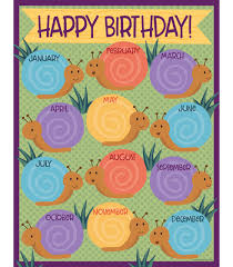 Learning Resources Birthday Pocket Chart Nature Explorers Birthday Chart