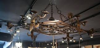 antique wrought iron chandelier french vintage wrought iron diamond shape chandelier pot rack sold antique wrought