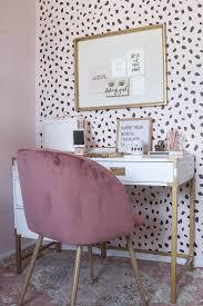 Neutral office decor Boho Modern Blogger Office Neutral Office Blush Office Blush Home Decor Blush Blogger Office Money Can Buy Lipstick Blogger Office Tour Fall 2017 Money Can Buy Lipstick