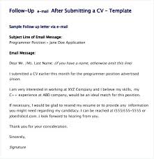 Followup Email Job Application Follow Up Sample After Interview No