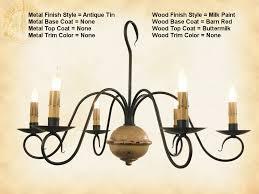 iron chandelier primitive franklin wood wrought iron chandelier