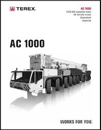 Demag Ac 100 Load Chart Terex Demag Ac 1000 Chart Projects To Try