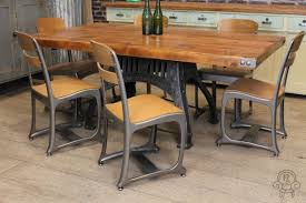 industrial kitchen table furniture. Alluring Vintage Industrial Dining Room Table And Furniture Create A Warm Living Kitchen N