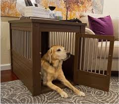 3 of 6 large dog kennel cage crate pet eco wood oversized puppy bed end table furniture