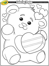 Crayon colors in 48 count crayola box. Valentine S Teddy Bear Coloring Page Crayola Com