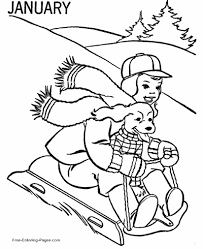 Free january coloring page printable. Winter Coloring Pages Sheets And Pictures
