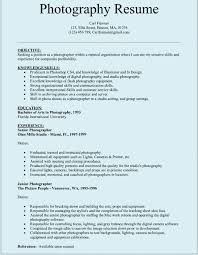 Photography Resume Simple Director Of Photography Resume Template Photographer Resume Template