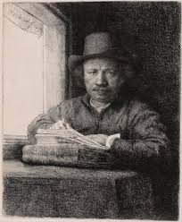 rembrandt the anatomy lesson of dr tulp article khan academy rembrandt self portrait drawing at a window 1648 etching drypoint and burin on ivory laid paper 15 6 x 13 cm art institute of chicago