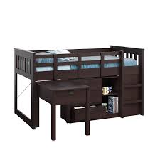 Amazon.com: CorLiving BMG-370-B Madison Loft Bed with Desk and ...