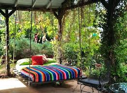 beautiful lively swing bed outdoor floating round hanging comfy designs outdoor hanging bed