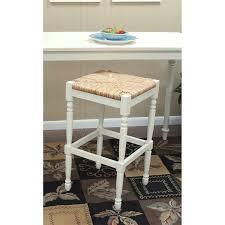 antique white bar stools. Counter Stool - Antique White With Rush Seat | Hayneedle Bar Stools E