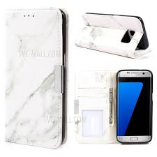 marble texture leather wallet case accessory for samsung galaxy s7 edge g935 grey 1