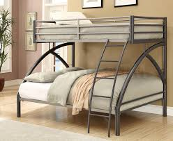 Metallic Bedroom Furniture Metal Bunk Bed With Trundle Wonderfully Stairs Addition Info