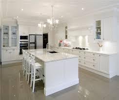Pictures Of A Kitchen With White Cabinets And White Granite Cozy - White contemporary kitchen