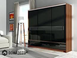 white wardrobe single door small sliding doors cabinet free standing black furniture