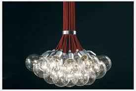 exposed cer bulb pendant chandelier