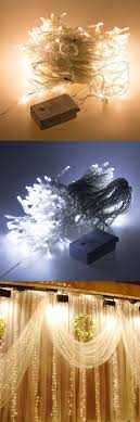 Outdoor 3M * 3M 300 Led Curtain Light Strings Waterproof Xmas Wedding Party  Festival Background Decoration