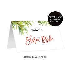 Holiday Placecards White Holiday Place Cards Drake Digibuddha