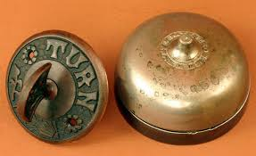 turnbellset french la vie its a bird its a plane its antique door bell ringer