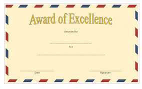 Certificate Of Excellence Template Word Certificate of Excellence Templates Best 100 Templates 45