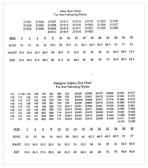 Bill Levkoff Size Chart 2017 Size Charts