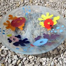 whimsical fused glass fish bowl item 18 by ajglassworks on