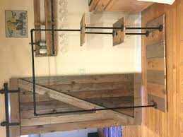 black pipe clothing rack beautiful rolling clothes made from reclaimed wood and iron diy