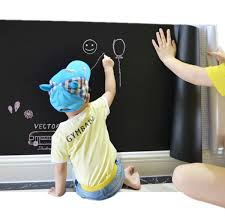 1pcs vinyl blackboard wall stickers removable chalkboard decal roll blackboard wallpaper contact paper self adhesive wall sticker for home office 200 x 45