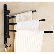 Amazoncom ELLOALLO Oil Rubbed Bronze Swing Out Towel Racks for