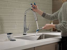 Delta Chrome Kitchen Faucets Faucetcom 9113t Dst In Chrome By Delta