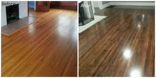 before and after refinishing hardwood oak floors dark hardwood floors
