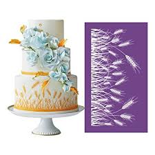 Amazoncom Ak Art Kitchenware Barley Design Mesh Stencils For Cakes