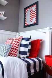 a red white blue boys room my