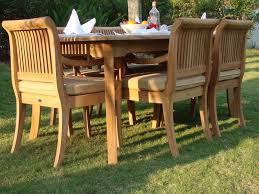 teak outdoor dining chairs. Image Of: Ideas Teak Patio Dining Set Outdoor Chairs F