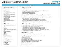 International Travel Packing Checklist Ultimate Travel Planning Packing Checklist