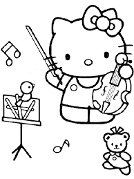 Print free hello kitty coloring sheets and her friends for coloring. Music Coloring Pages Hello Kitty Coloring4free Coloring4free Com
