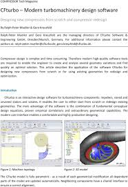 Turbomachinery Design Software Cfturbo Modern Turbomachinery Design Software Pdf Free