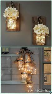 Mason Jar Decorations For Christmas DIY Hanging Mason Jar String Lights Instruction DIY Christmas 35