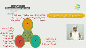 المرحلة الثانوية - التفسير (2) - جمع القرآن الكريم - YouTube