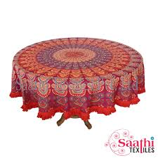 royal looking round table covers pure cotton printed